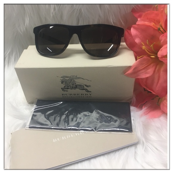 413d1bd16528 😎Burberry Black Sunglasses Justin gradient lenses